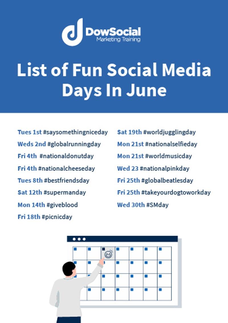 List of fun social media days June 2021